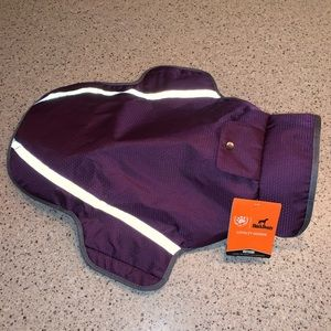Purple dog coat!